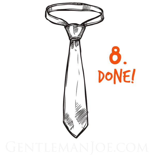 how to tie a tie - half windsor step 8