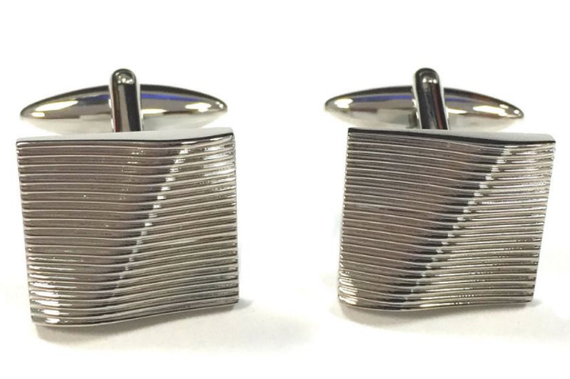 groomsmen gift textured cufflinks