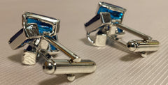 Royal Blue Crystal Cuff Links
