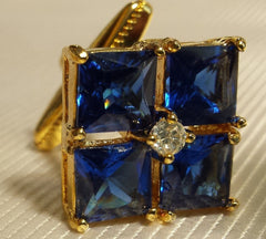 beautiful blue glass cufflinks