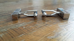 silver bar cuff links