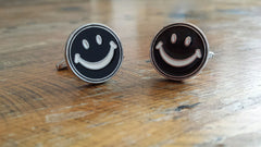 Happy face cufflinks