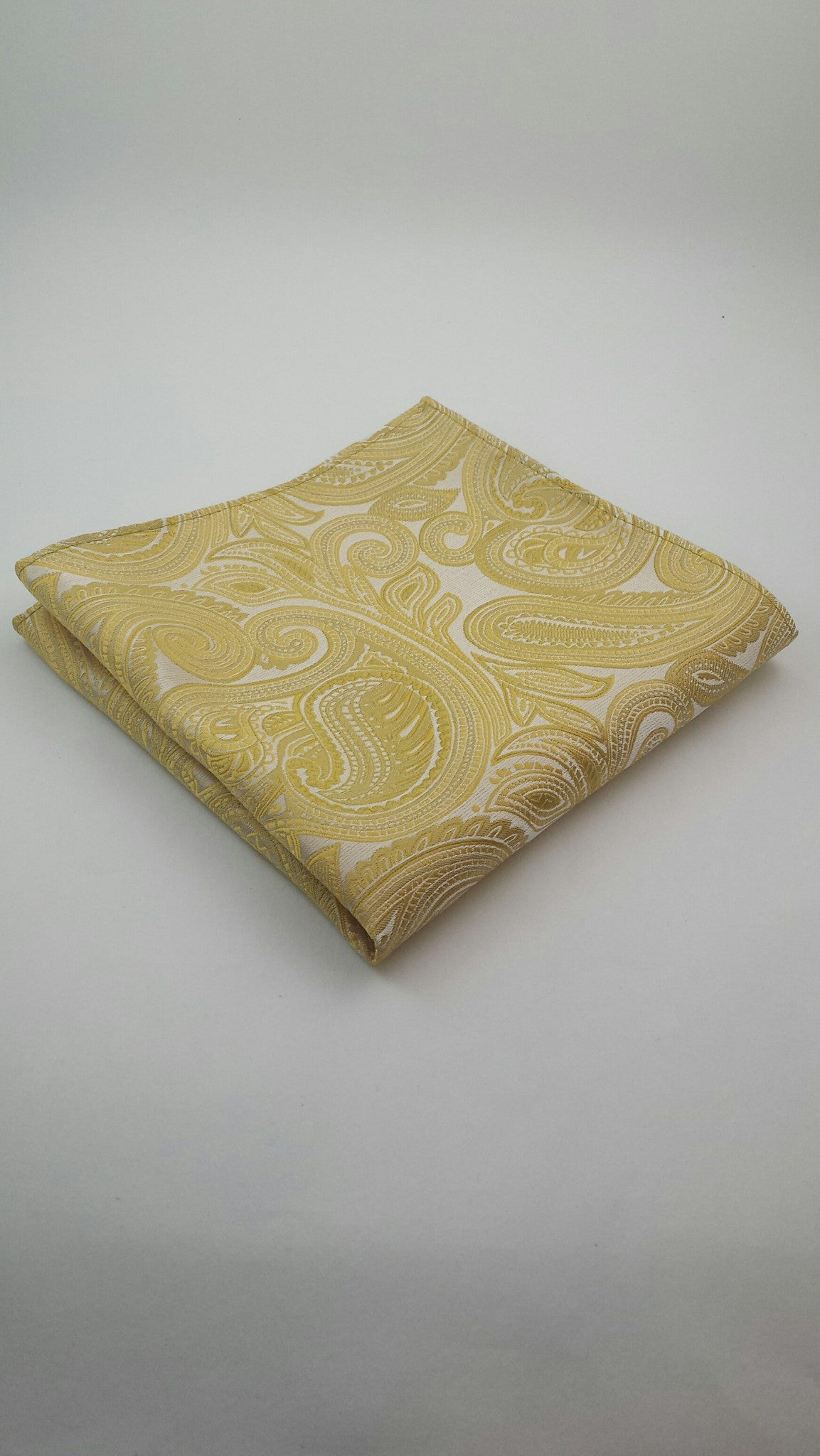 Gold paisley pocket square