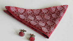 red hanky with flowers