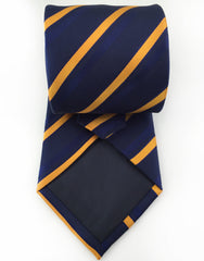 Navy blue and orange tie