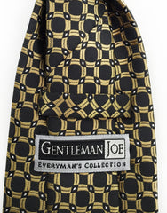 black & gold circles necktie