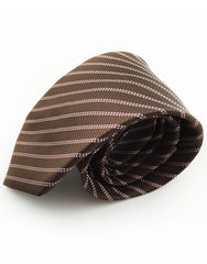 brown and pink necktie