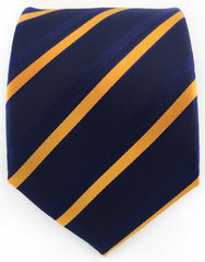 Navy and orange stripe tie
