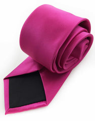 tip of extra long pink tie