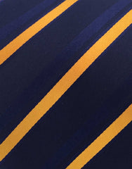 Navy and orange tie swatch