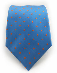 baby blue & orange dot tie