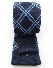 back view - navy knit tie