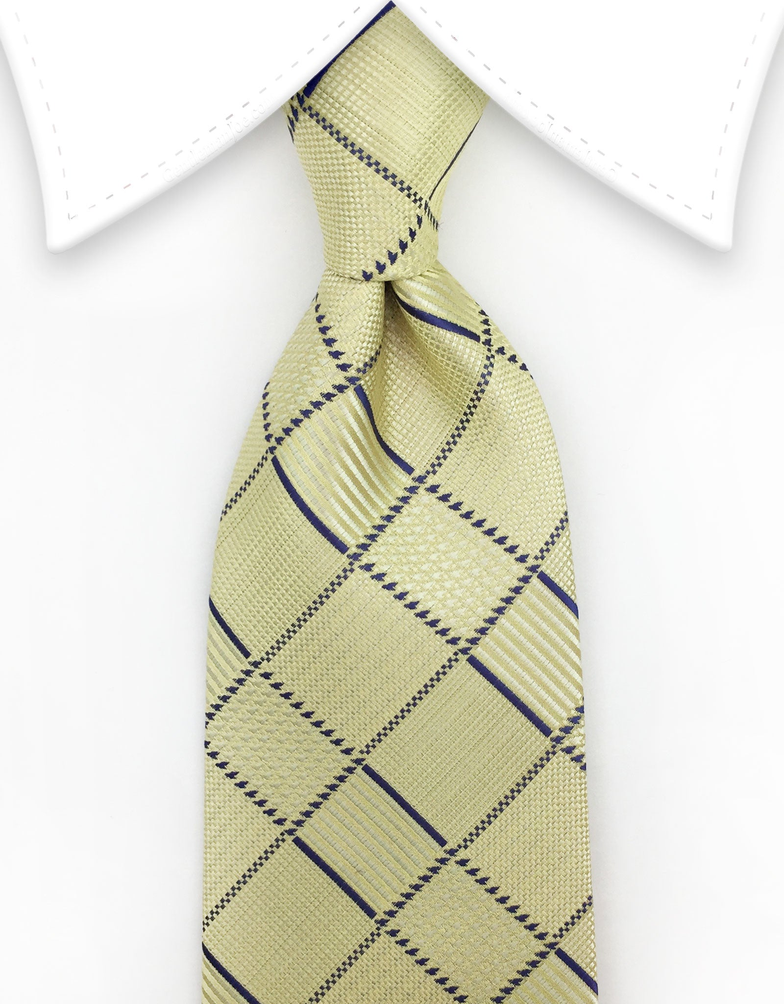 butter yellow plaid tie