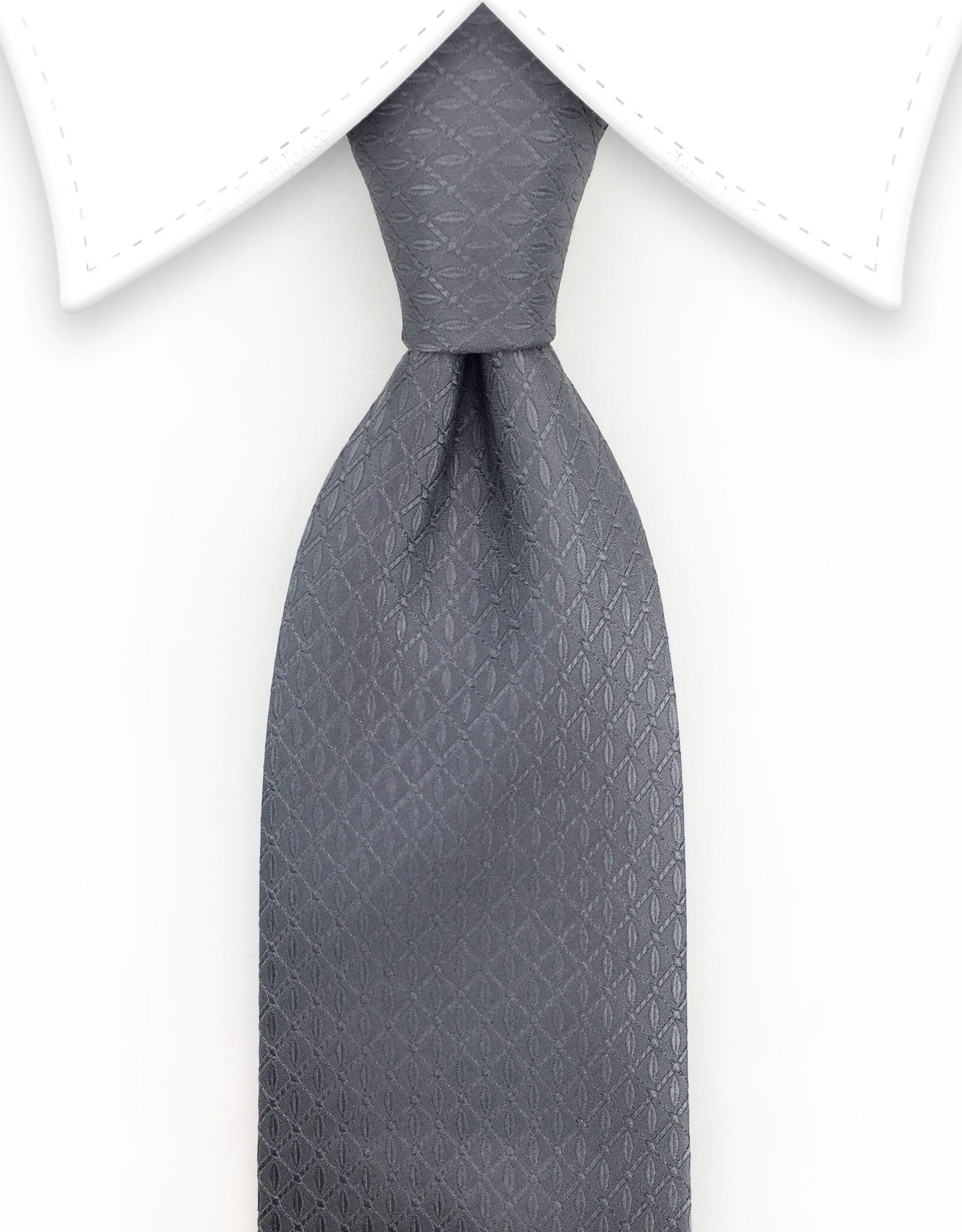 Charcoal Gray Extra Long Silk Tie