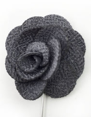 Charcoal Gray Flower Stick Pin
