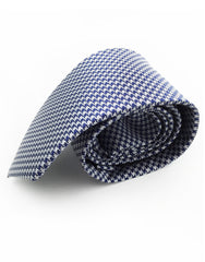 navy blue and silver tie