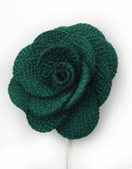 Dark Green Lapel Flower