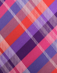 Purple, Pink & Red Tie - close up