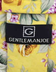 Gentleman Joe's Yellow & Pink Floral Tie