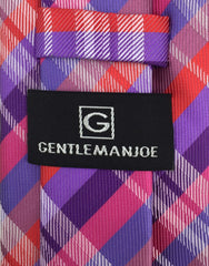 GentlemanJoe Purple & Red Plaid Tie