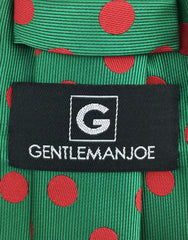 Gentleman Joe's Green Red Dot Tie