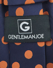 Gentleman Joe's Navy & Orange Dot Necktie