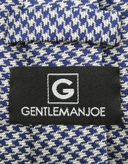 Gentleman Joe navy blue and silver houndstooth tie