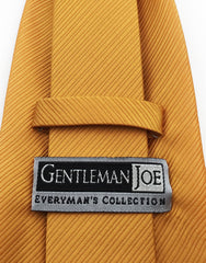 Gentleman Joe Gold Orange Mens Tie
