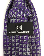 Gentleman Joe Purple and Silver Tie