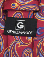 Gentleman Joe Red, Blue, Orange Paisley Tie
