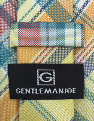 Gentleman Joe Yellow Plaid Tie