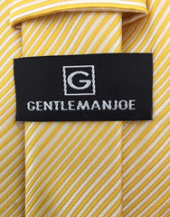 Gentleman Joe's big and tall yellow striped tie