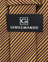 Gentleman Joe Gold Burgundy Tie