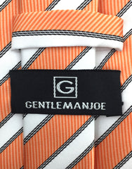 Gentleman Joe Orange White Stipe Tie