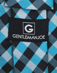 Gentleman Joe's Aqua Black Mens Tie