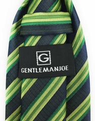 GentlemanJoe Striped Green Necktie