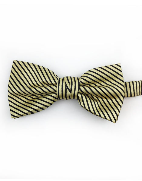 Gold and Black Bow Tie