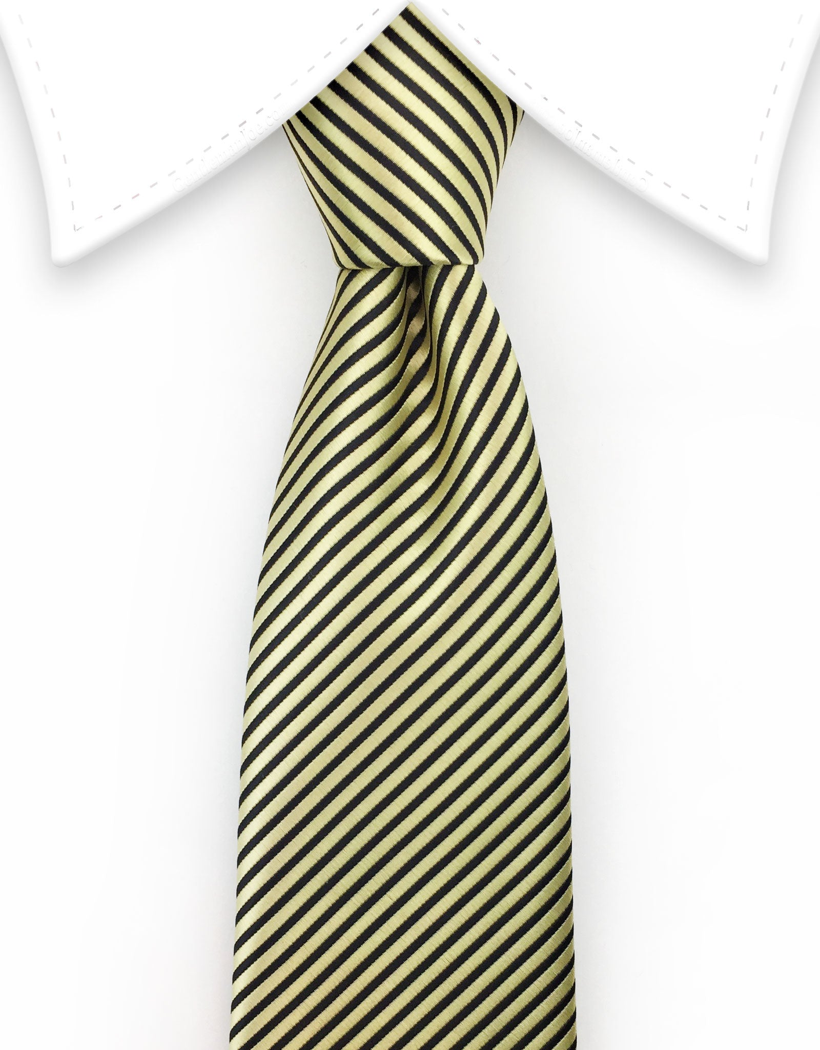 Gold & Black Pinstriped Teen Tie