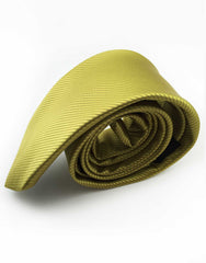 side view of green gold necktie