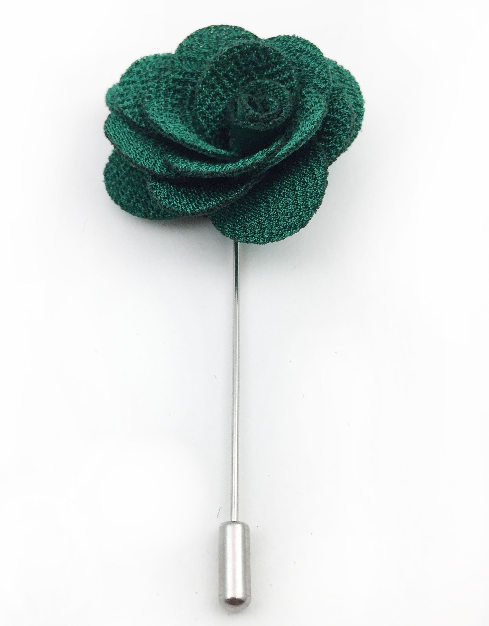 Dark Green Lapel Flower Pin