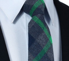 Green and Gray Tie