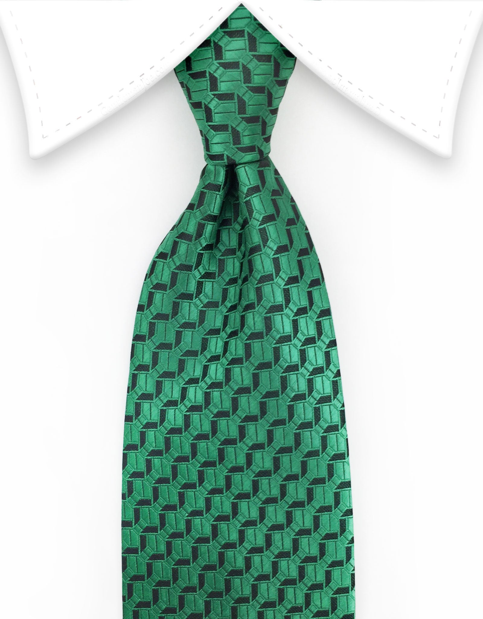 Green Silk Wedding Tie