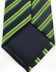 Multi-green striped tie