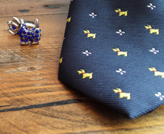 Terrier Dog Tie & Cufflinks