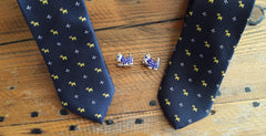 Scottie Terrier Dog Tie & Cufflinks