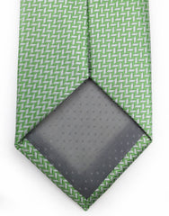 spearmint green & silver tie
