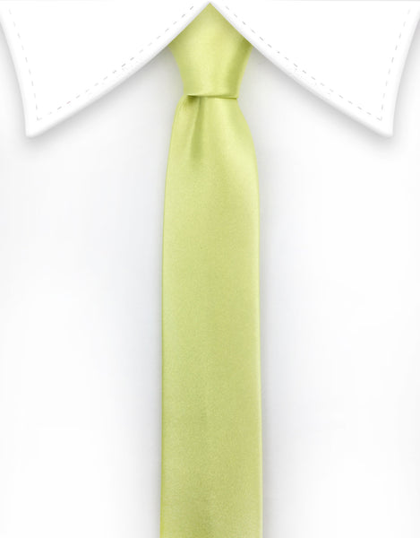 Lemon meringue Satin Tie
