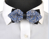 Blue and Silver Crystal Bow Tie
