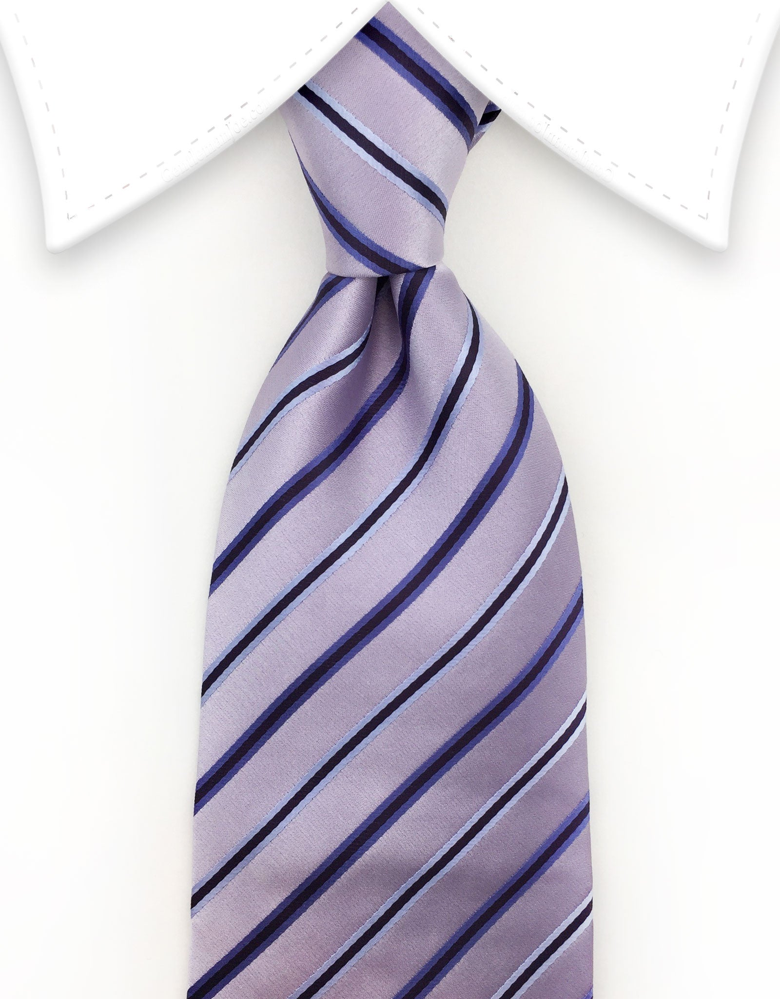 Lilac Lavender Striped Tie