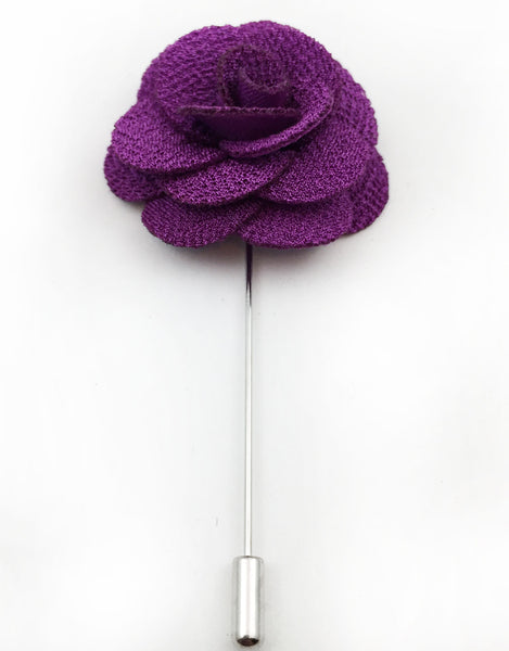 Violet Purple Lapel Flower